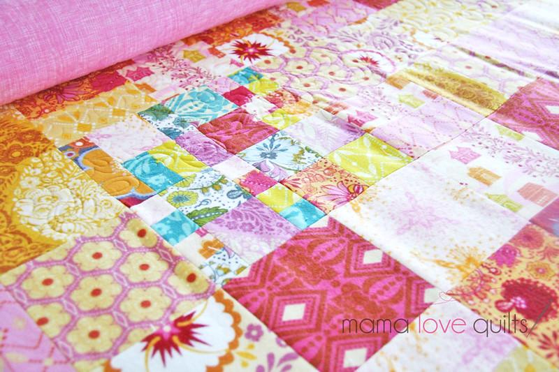 Anna Maria Horner Flannel Quilt_quilting