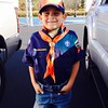 My :tiger: Scout!  So proud of him!  #cubscouts #growingup #tigers