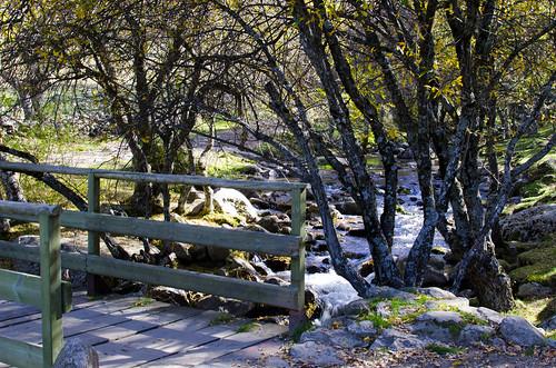 Ruta desde monasterio de El Paular a la Cascada del Purgatorio. Rascafría.
