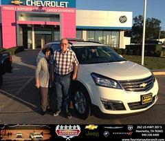 Congratulations to Billy & Connie Johnson on your #Chevrolet #Traverse purchase from Everyone at Four Stars Auto Ranch! #NewCar
