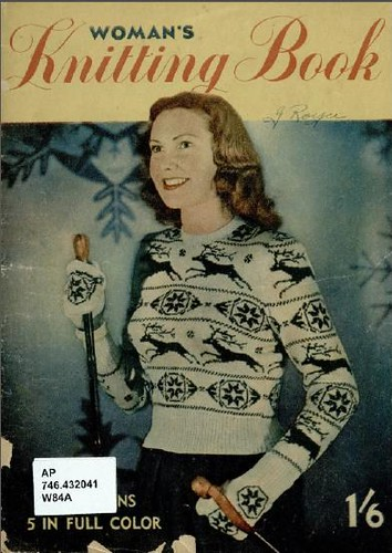 woman's knitting book