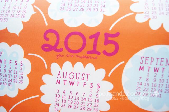 2015 fabric calendar panel