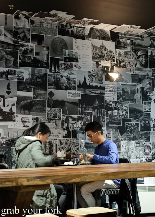 Diners inside Khao Pla, Chatswood