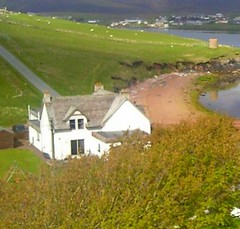 View from my room at Busta House Hotel Shetland