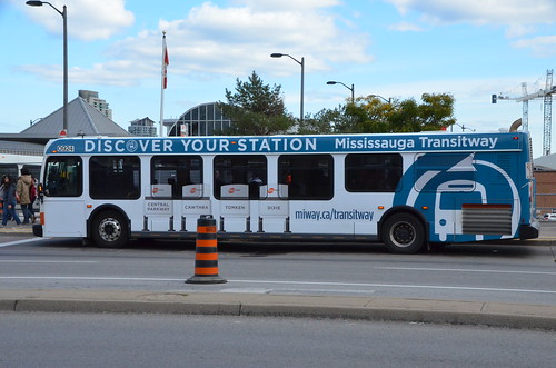 Mississauga Transit 0920 NFI D40LFR Bus At Sq One Terminal Wrap for New Transitway
