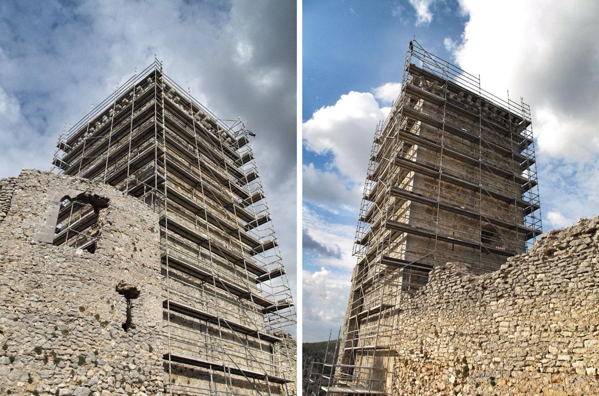 castillo ucero_soria_visita monumentos restauracion_torre homenaje_obispo
