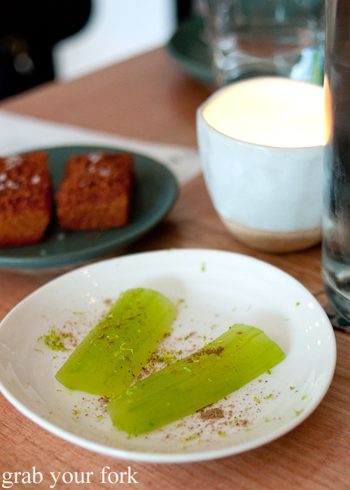 Pickled cucumber at ACME, Rushcutters Bay
