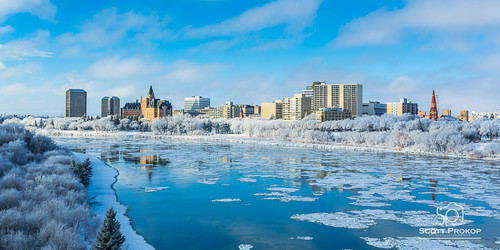 city blue winter sky urban white snow canada cold reflection building tree ice nature water skyline architecture skyscraper river landscape hotel frozen downtown frost cityscape structure saskatoon bessborough saskatchewan