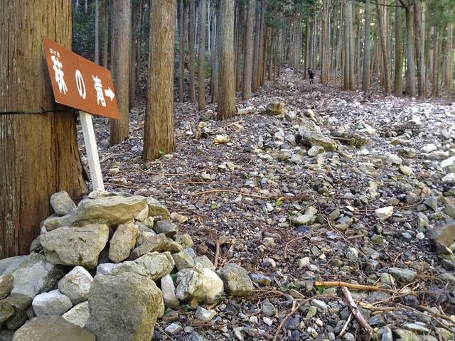 秣の滝 登山道