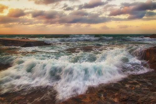 sea sky nature clouds rocks waves crete rethymno κρήτη φύση σύννεφα κύματα θάλασσα βράχια ρέθυμνο ουρανόσ