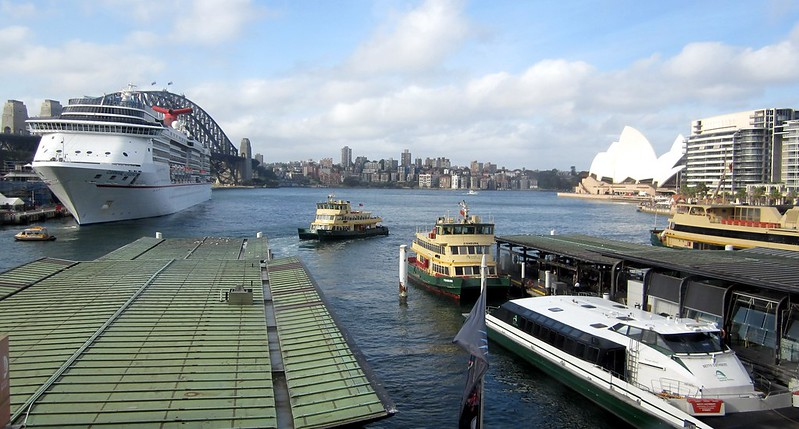View from Circular Quay railway station, Sydney