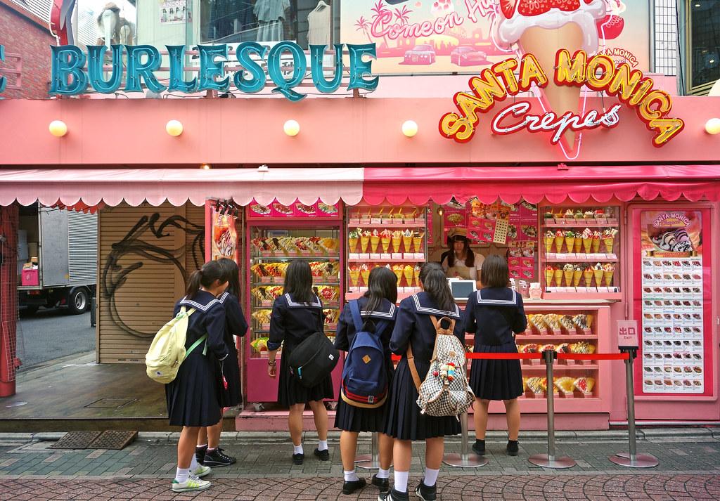 School girls, Takeshita Street, Harajuku, Tokyo