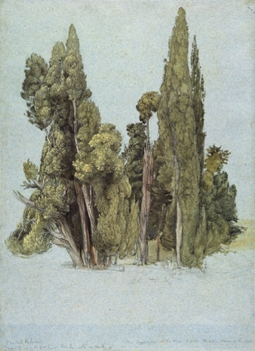 Samuel Palmer, The Cypresses at the Villa d'Este