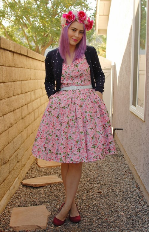 Bernie Dexter Belle dress in Pink Blossom 008