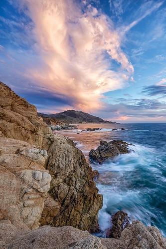 ocean california statepark sunset seascape landscape coast pacific bigsur shore garrapatastatepark garrapata