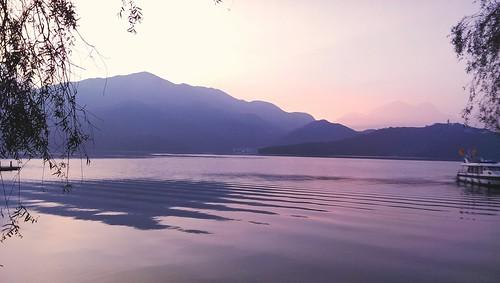dawn taiwan 台湾 日月潭 sunmoonlake 晨曦 山重山
