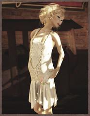 Fusspot - White Vintage Sequin Flapper