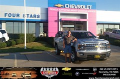 Congratulations to Michael and Donna Craib on your #Chevrolet #Silverado 1500 purchase from Kevin Hamm at Four Stars Auto Ranch! #NewCar