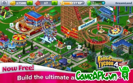 RollerCoaster Tycoon® 4 Mobile v1.1.1.4 hack full cho Android
