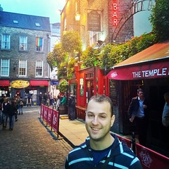 Day 1 of our walking tour of Dublin, here for our 1-year wedding anniversary