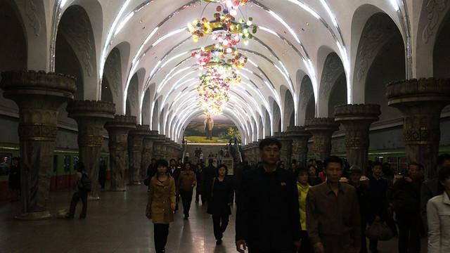 Pyongyang Metro - Glory (Yong Gwang) Station