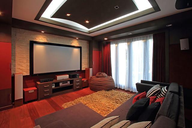 Custom Home Building - Home Theatre