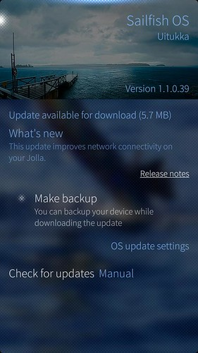 Sailfish OS v.1.1.0.39 Uitukka