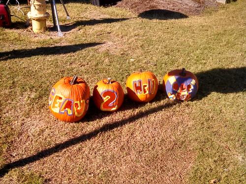 Geaux 2 Hell Ole Miss pumpkins