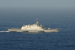 USS Fort Worth (LCS 3) operates off Southern California during a task group exercise in October. (U.S. Navy/MCSN Shauna C. Sowersby)