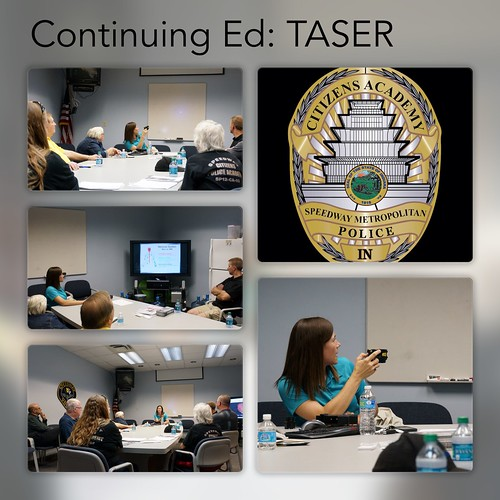 Speedway Police Citizens Academy Continuing Ed Class: TASER