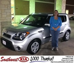 #HappyAnniversary to John Whitlow on your 2013 #Kia #Soul from Steven Kravetz at Southwest KIA Rockwall!