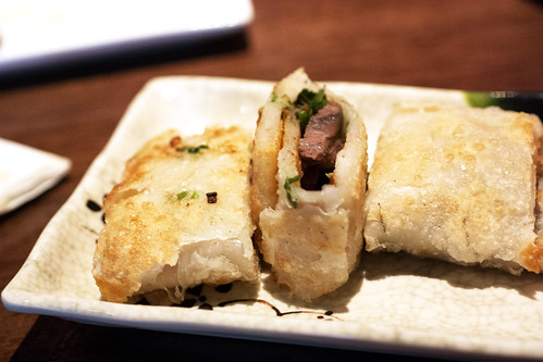 scallion pancake with beef @ bao