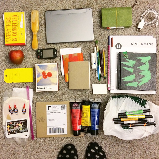 Poured out the contents of my stuffed backpack this morning and thought it was the perfect opportunity to share #whatsinmybag