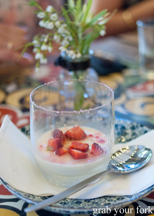 Coconut and lime panna cotta at Mama's Buoi, Surry Hills