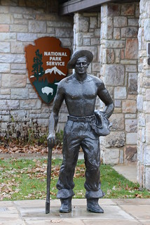 """""""Iron Mike"""" the CCC worker at Shenandoah National Park"""