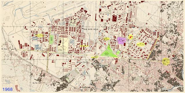 Bản đồ khu vực Căn cứ KQ Tân Sơn Nhứt 1968
