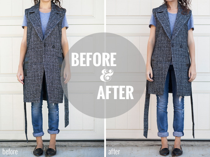 Adventures in Alterations – Plaid Madewell Vest