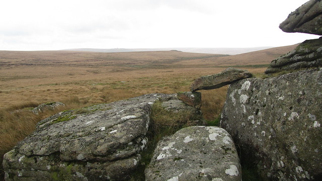 Looking to Green Tor and Bleak House from Hunt Tor
