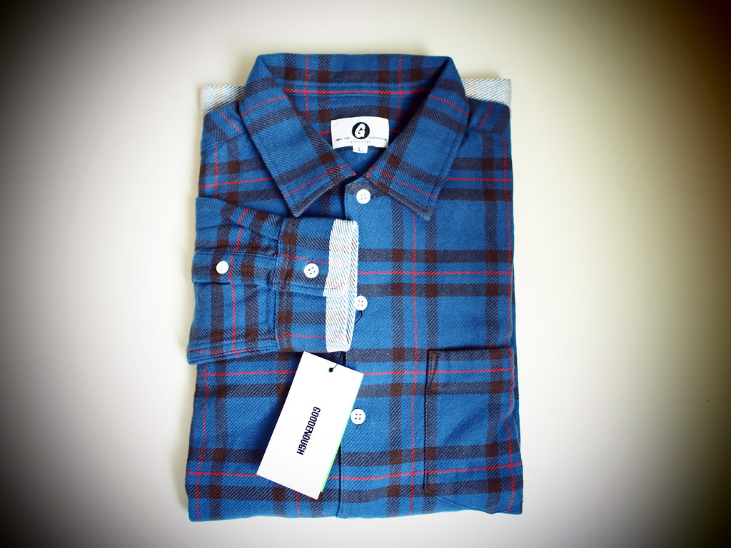 GOODENOUGH | Check Flannel Line Shirt