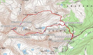 Father Dyer, Crystal, and Peak 10 Topo Map with Waypoints