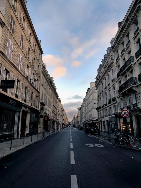 Empty Sunday street