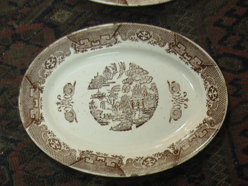 piatto ovale ceramica richard ginori mondov cm 31x23