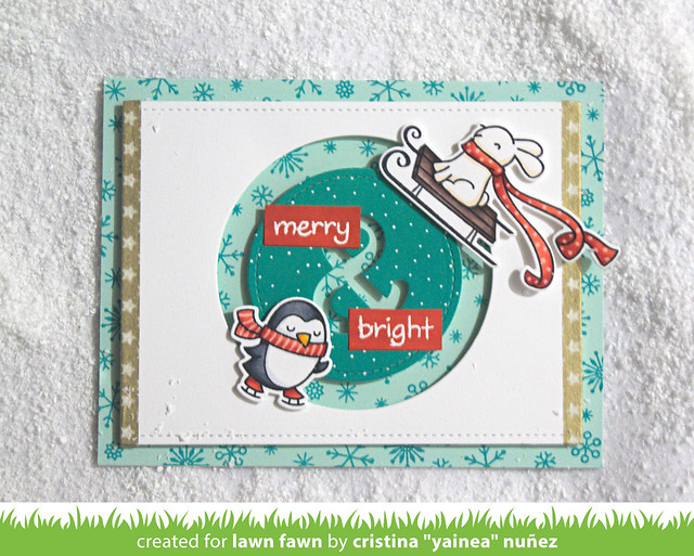 Merry & Bright spinner card