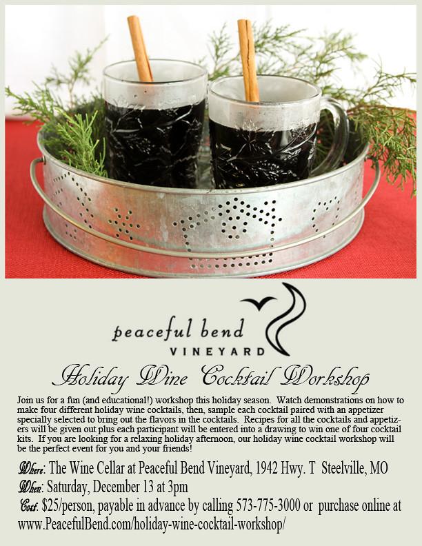 Holiday Wine Cocktail Workshop