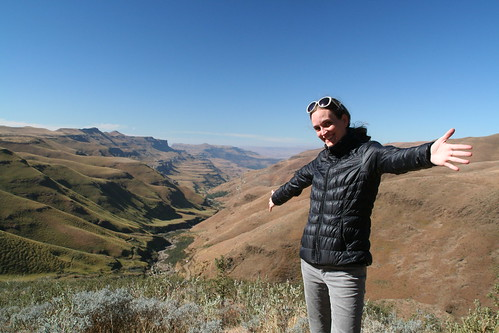 I'm loving this, Sani Pass view point