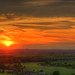 Sunset viewed from Deacon Hill, Bedfordshire by Dave Wood Liverpool Images