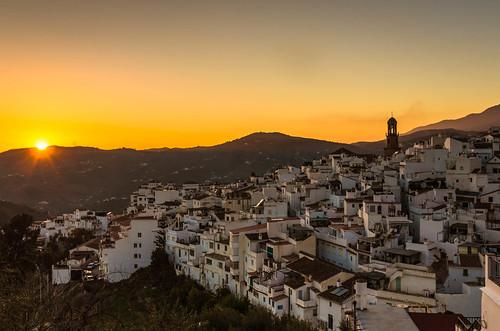 whitevillage cómpeta evening spain sunset puebloblanco golden espana andalusien goldenhour competa andalucia atardecer spanien axarquia