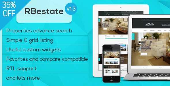 RBestate WordPress Theme free download