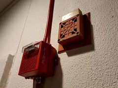 Old and new fire alarms
