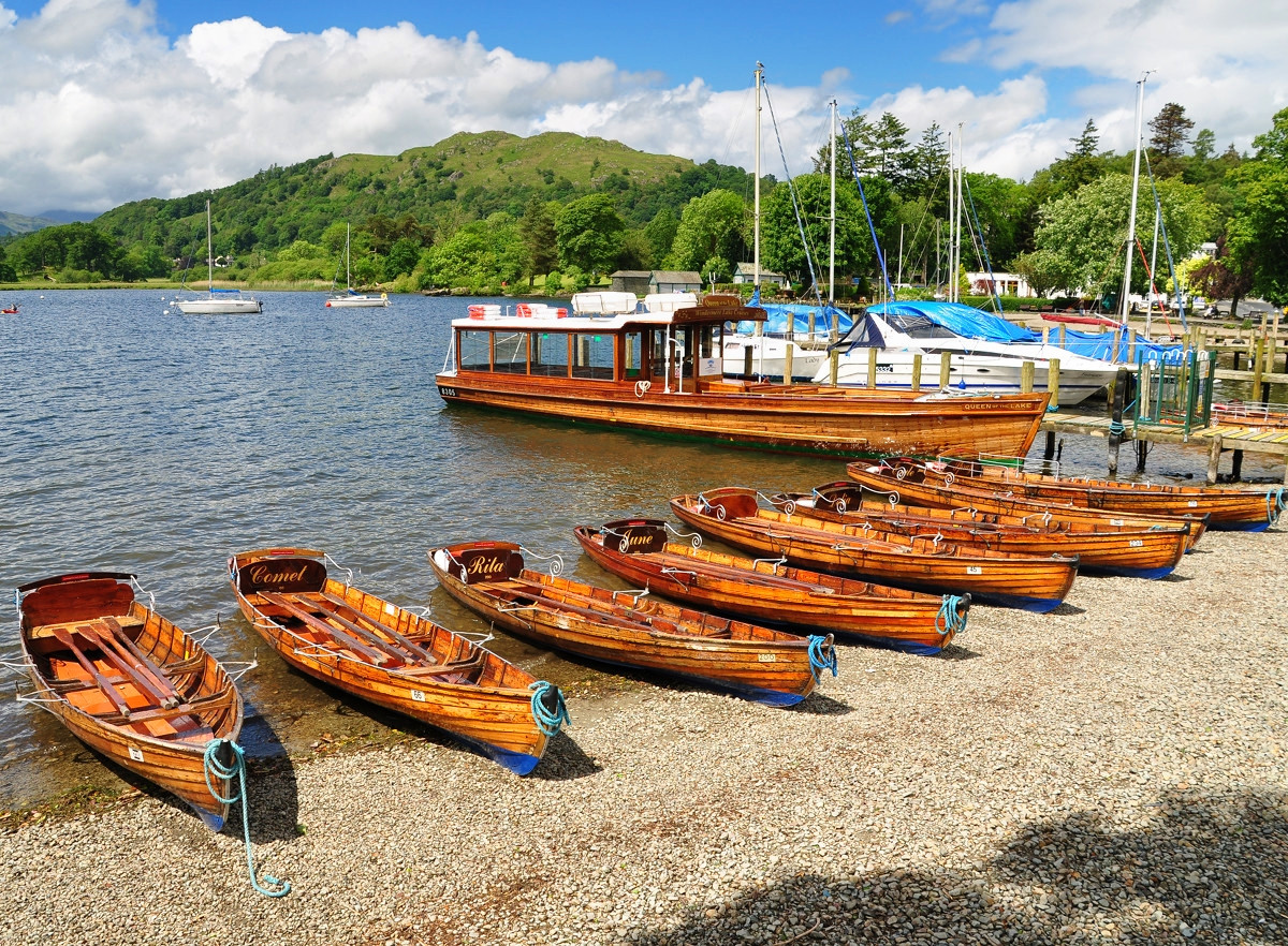 Boats at Ambleside, Lake District. Credit Nilfanion